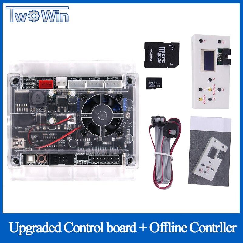 Tarjeta controladora fuera de línea de 3 ejes mejorada, puerto USB GRBL, placa de Control de máquina de grabado CNC para máquina 2117,1610,2418,3018