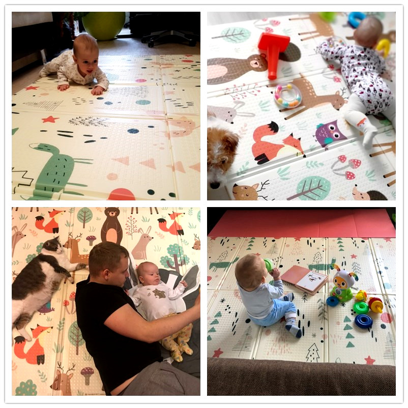 Infant Shining Baby Play Mat Xpe Puzzle Children s Mat Thickened Tapete Infantil Baby Room Crawling Infant Shining Baby Play Mat Xpe Puzzle Children's Mat Thickened Tapete Infantil Baby Room Crawling Pad Folding Mat Baby Carpet