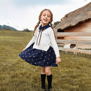 Image 2 - 2019 Girls Winter Clothes Set Long Sleeve Sweater Shirt + Skirt 2 Pcs Clothing Suit Spring Outfits For Kids Girls Clothes 3 14y