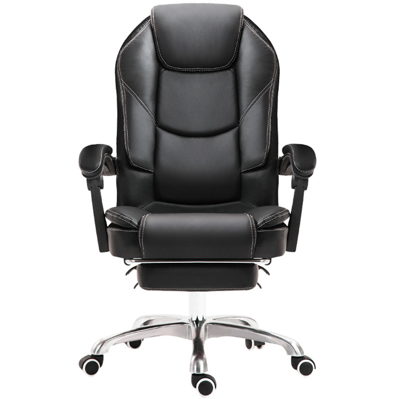 Genuine Leather Office Chair Household Cowhide Leather Boss Computer Chair PU Swivel Lift Gaming Chair Reclining Silla Oficina