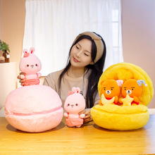 Fashionable ball surprise rabbit and bear pillows, best birthday gifts, Valentine's Day gifts, creative stuffed toys