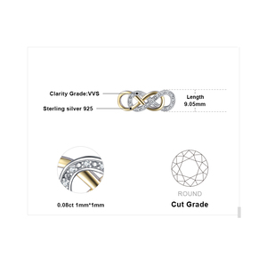 Image 5 - JewelryPalace אינפיניטי CZ זהב כסף תליון שרשרת 925 כסף סטרלינג שרשרת הצהרת קולר צווארון שרשרת נשים 45cm