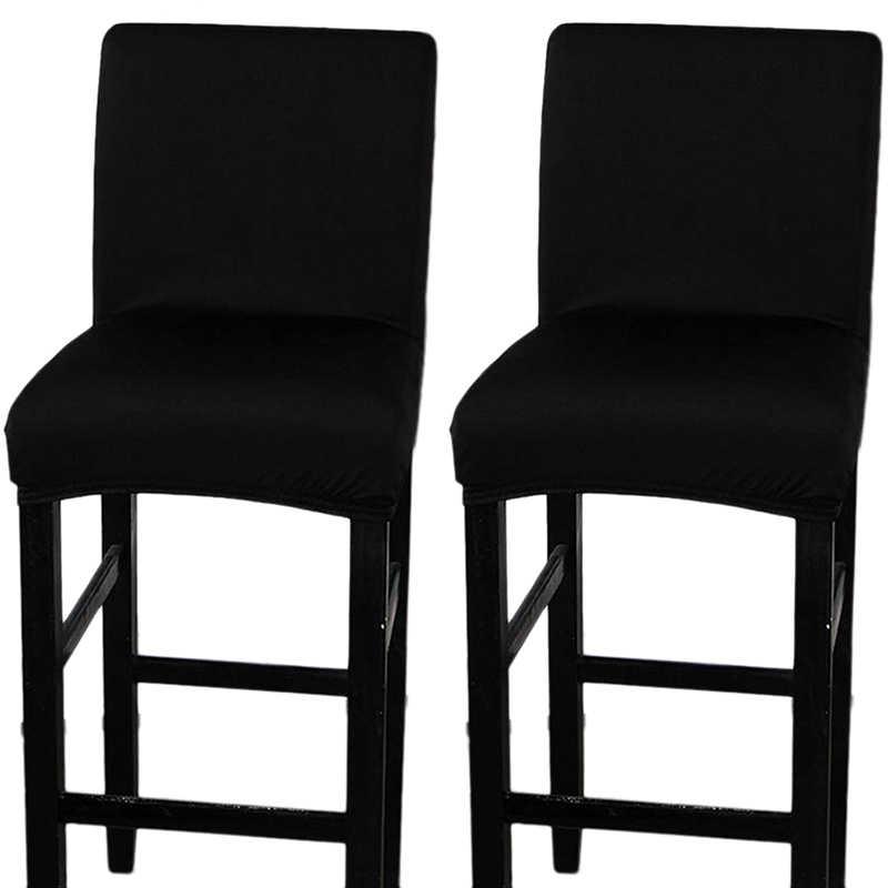 新 2 パック椅子カバー本カウンタースツールカバーダイニングルームキッチンバーライトスツールカフェ家具座椅子カバーストレッチ Prot