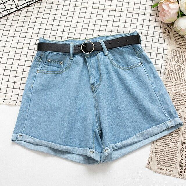 YuooMuoo All Match Sashes Casual Women Denim Shorts Crimping High Waist Slim Summer Jeans Shorts Feminino Chic Hot Ladies Bottom 6