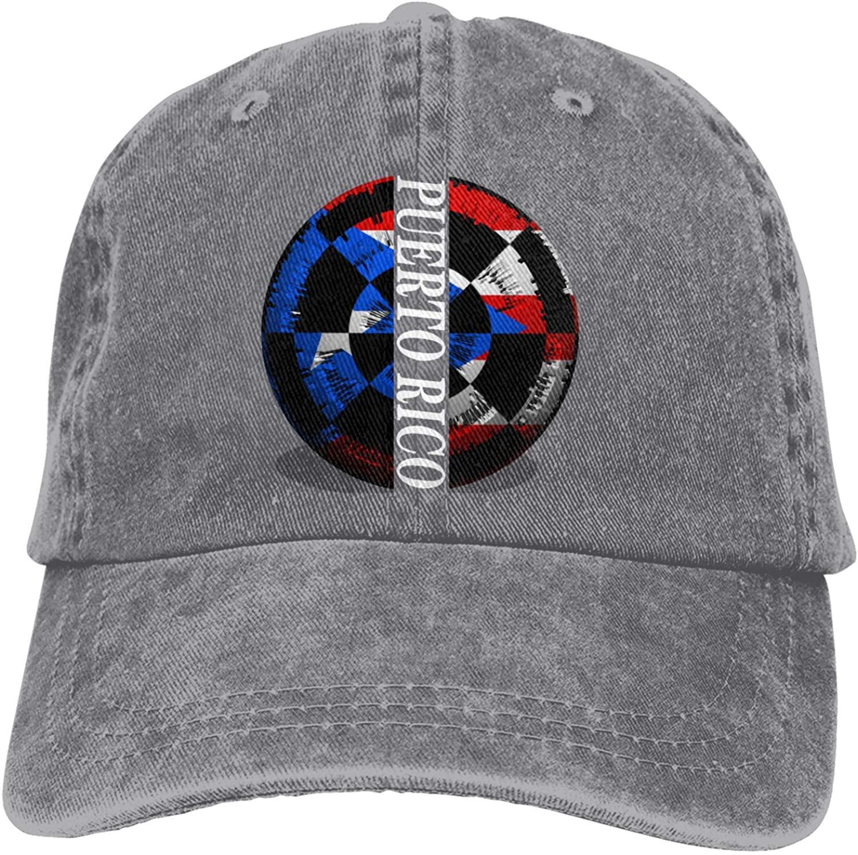 Пуэрто-Рико Флаг музыка спортивные джинсовые Кепки Регулируемый однотонные футболки в стиле унисекс, Бейсбол в ковбойском стиле, Кепка с козырьком