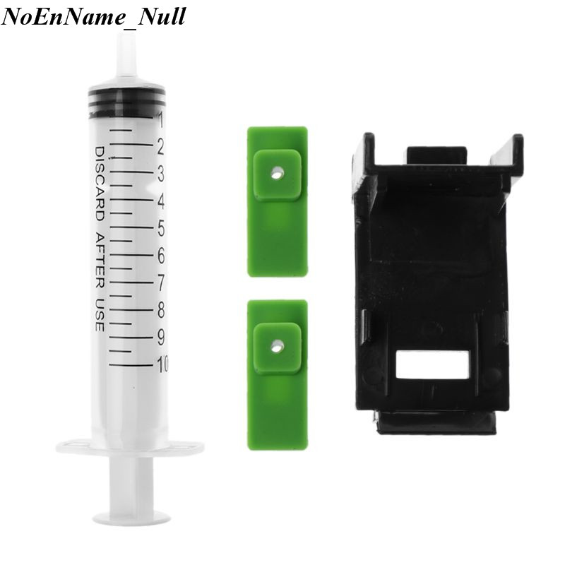 Ink Refill Cartridge Clip+ 2pcs Rubber Pads + Syringe Tool Kit For HP 60/61 802