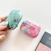 Cute glossy IMD oval scale square Earphone Charging silicone cover for AirPods pro air pods pro 1/2 case Bluetooth Headset Case 3d lucky rat cartoon bluetooth earphone case for airpods pro cute accessories protective cover for apple air pods 3 silicone