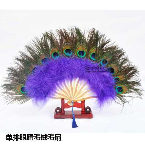 Павлиньи перья декоративные веера веер из перьев для украшения стен для гостиной китайский подарок домашний декор Прямая поставка - 2