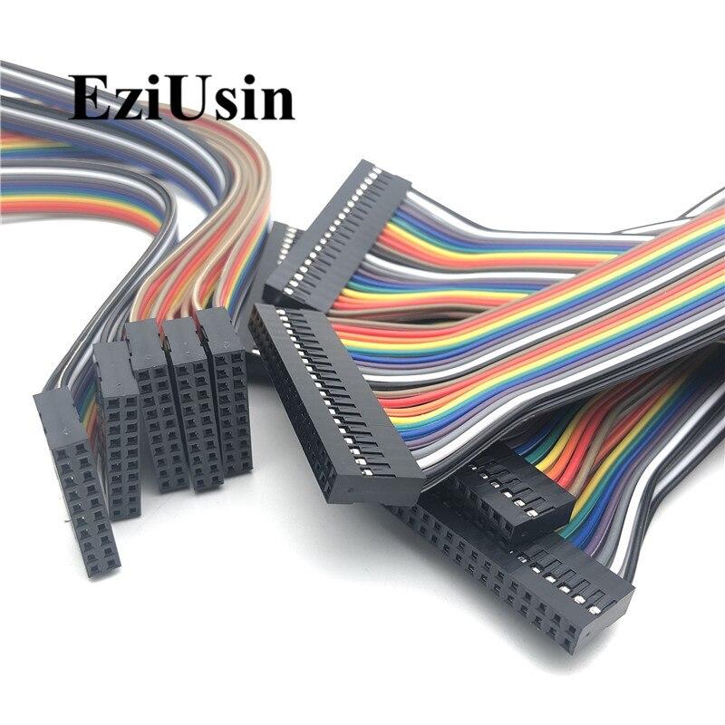 20cm 2,54mm 2broches femelle vers femelle F//F Jumper Fil connecteur 5pcs