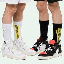 Белый носки мужские Meias скейтборд баскетбол уличная одежда Harajuku носки OFF хлопок повседневная одежда экипировка кальцетины