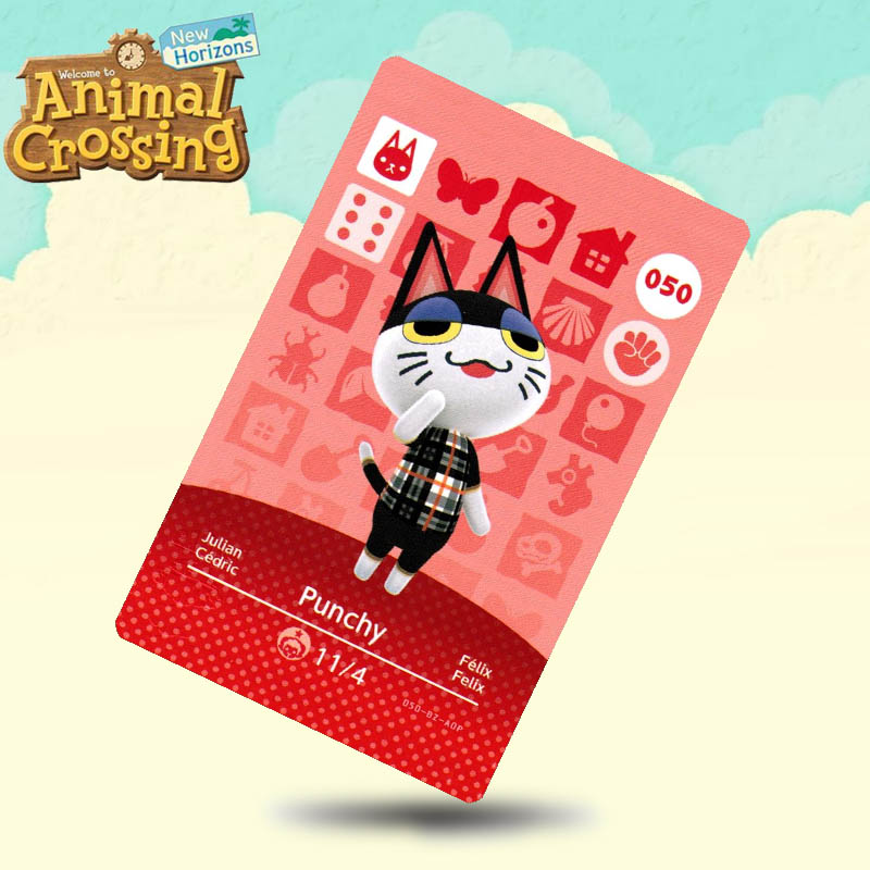050 Punchy  Animal Crossing Card Amiibo Cards Work For Switch NS 3DS Games