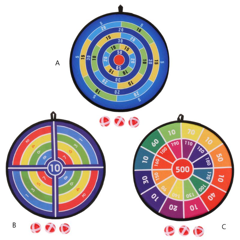 Sports Toys Fabric Dart Board Set Kid Ball Target Game For Children Security Toy Sticky Ball Darts Board Accessories 3 Styles