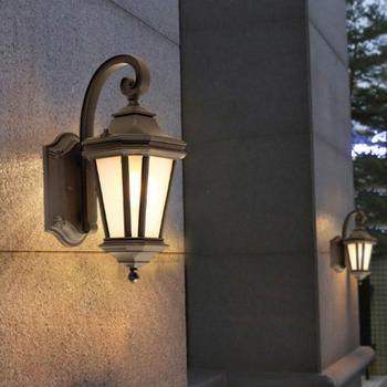 Outdoor waterproof wall lamp European-style gate wall sconces exteiror courtyard wall lamp garden fence balcony wall lanterns