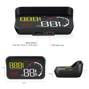 Image 5 - Auto HUD Display M10 A100 Windschutzscheibe Projektor OBD2 Überdrehzahl Warnung Multifunktions Intelligente Alarm System Fahr Sicherheit