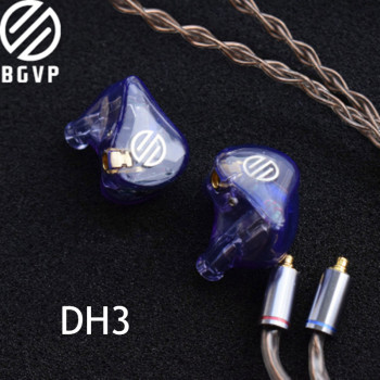 BGVP DH3 1DD+2BA Hybrid  In-Ear Earphone Customized Earphone HIFI Music DJ Detachable MMCX Cable DM7DMSDM6DMGDX3SDN1SQ2H7 1