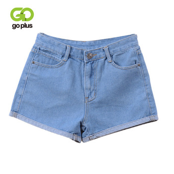 GOPLUS High Waist Denim Shorts 2020 Spring Summer Female Vintage Solid Jeans for Women Ladies Plus Size C2296