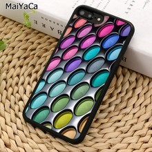 MaiYaCa Eye Shadow Palette Makeup Phone Case For iPhone X XR XS 11 Pro MAX 5 6 7 8 Plus Samsung Galaxy S5 S6 S7 S8 S9 S10(China)