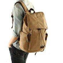 Men backpack leisure shouldertravel Retro canvas backpacks mens bags student school bag computer bags