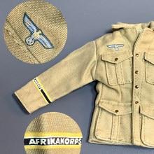 Novo 1/6 escala acessórios roupas afrika korps soldado jaket para 12