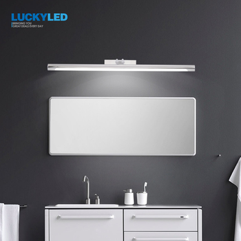 LUCKYLED Led Bathroom Light Wall Lamp 8W 12W AC85-265V Modern Led Mirror Light Waterproof Wall Mounted Wall light Fixture l40cm l60cm l70cm l90cm l110cm led wall lamp bathroom mirror light waterproof modern acrylic wall lamp bathroom lights ac85 265v