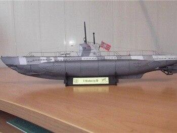 1:100 Scale Germany U-141 U-boot type IID DIY Handcraft PAPER MODEL KIT Puzzles Handmade Toy DIY 1
