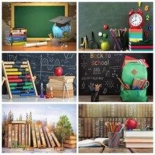 Children Baby Back To School Backdrop Black Blackboard Pencil Vinyl Graduation Photography Background For Photo Studio Photocall