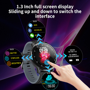 Image 3 - RUNDOING SN80 Men Smart watch 1.3 Inch Full Touch Screen Heart Rate Blood Oxygen Tracker Men Sport Smartwatch For Android IOS