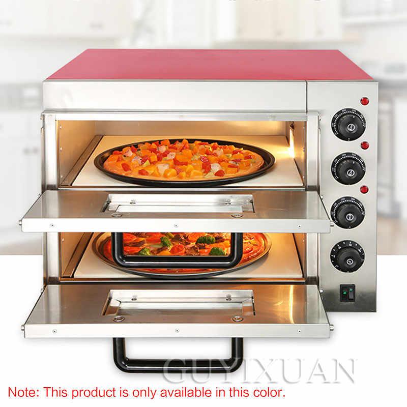 Four électrique multifonctionnel Commercial de gâteau de pain de cuisson de capacité élevée de four à pizza électrique intelligent de Double couche de ménage