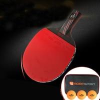 High Level S6 Carbon Fiber Nanoscale WRB System HE Sponge Rubber Table Tennis Bat Racket Light Long Short Handle Paddle Blade