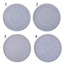 Pendulum-Mat Card-Tray Zodiac-Board Witchcraft-Tool Resin-Mold Epoxy Round 4pcs Astrology