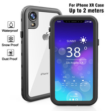 100% Waterproof For iphone XR Case Phone Shockproof Dustproof Cover Swim Diving Underwater Protective Coque