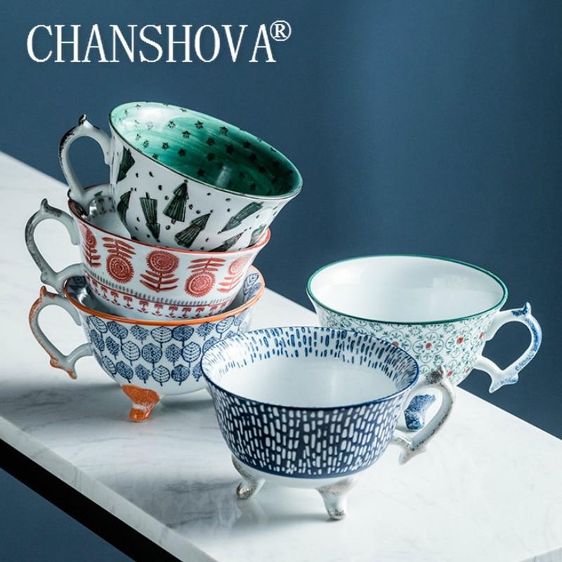 CHANSHOVA 250ml Ceramic breakfast cups Creativity personality coffee mugs teacup Chinese porcelain H595