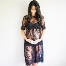 Hamile kadınlar dantel hamile elbisesi fantezi stüdyo kıyafetleri gebelik fotoğraf Prop dantel elbiseler hamile kadınlar hediye