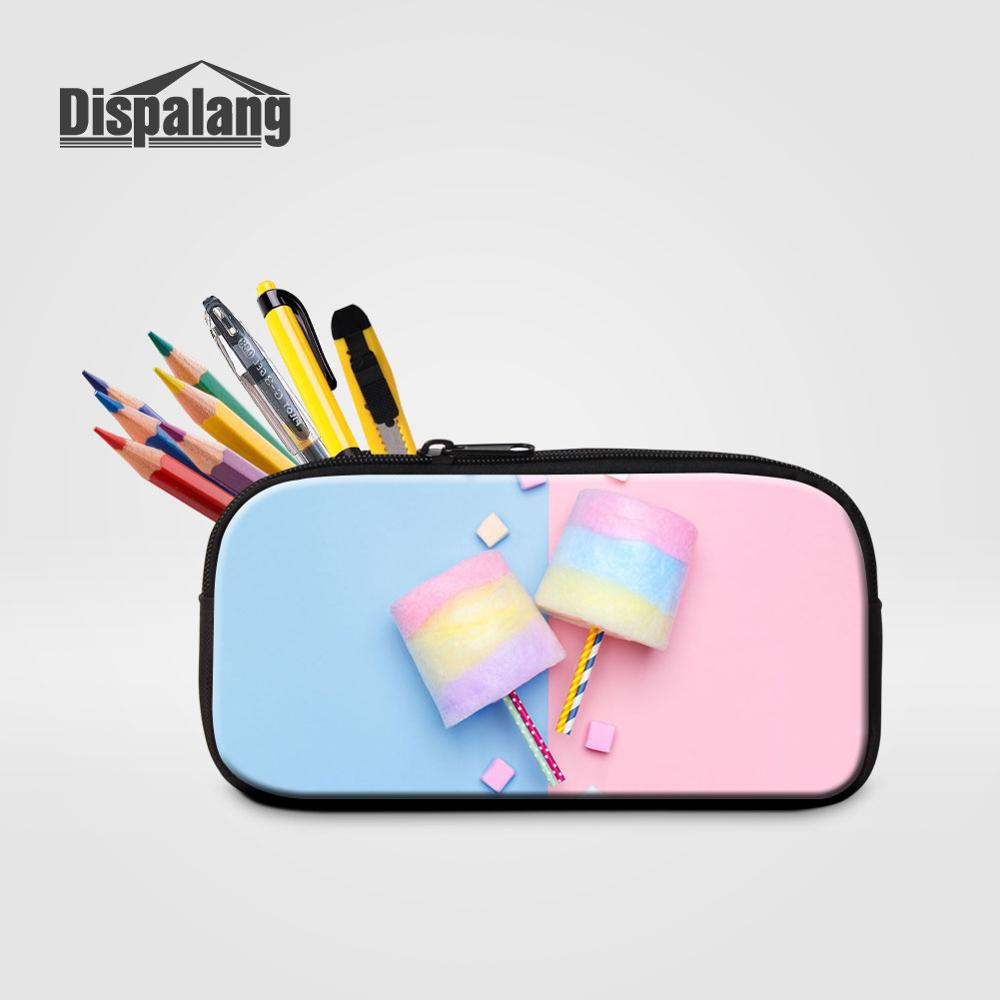 Dispalang Marshmallow Women Zipper Cosmetic <font><b>Bag</b></font> <font><b>Candy</b></font> Pencil Case For Girls Pen <font><b>Bag</b></font> Lady Portable Makeup Pouch School Stationery image