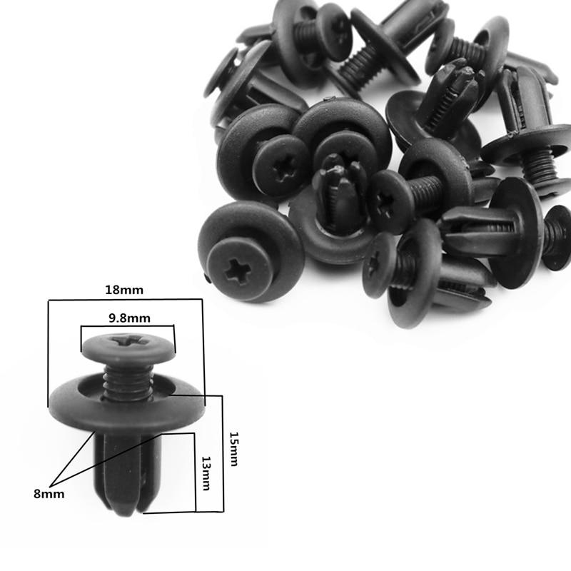 8mm Auto Fasteners Bumper Rivet Fixing Clip For Chevrolet Cruze Aveo Captiva Lacetti Mazda 3 6 2 Mitsubishi ASX Lancer Outlande