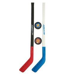 4 unids/set niños invierno Hockey sobre hielo palo herramientas de entrenamiento plástico 2xSticks 2xBall deportes de invierno juguete apto para 3-6 años