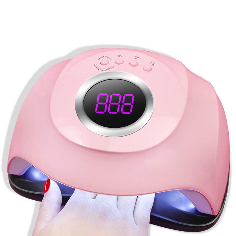 חדש לגמרי 86 w מנורת UV נייל מייבש פרו Uv LED ג 'ל ציפורניים מנורת מהיר ריפוי ג' ל פולני קרח מנורת עבור ציפורניים מניקור מכונת