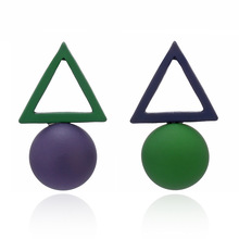2020 Special Offer Tin Alloy Oorbellen Pendientes New Korean Triangular Geometric Earrings With Simple Temperament Fashion