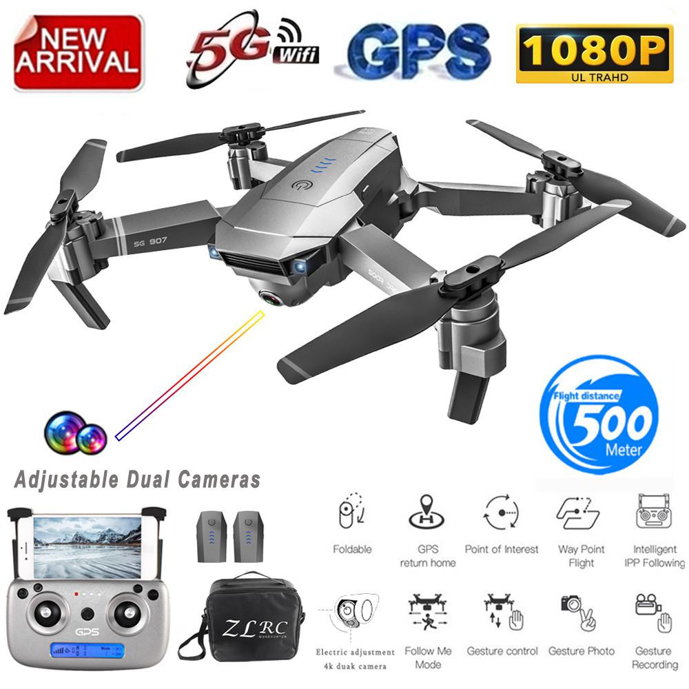 RCtown SG907 GPS Drone with Camera 4K 5G Wifi RC Quadcopter Optical Flow Foldable Mini Dron 1080P HD Camera Drone