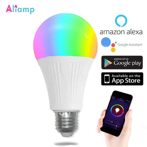 Image 1 - WiFi החכם Led אור הנורה E26/E27 מנורת A19 7W חם 3000K קר לבן 6000K RGB שלט רחוק Tuya Alexa גוגל עוזר הבית