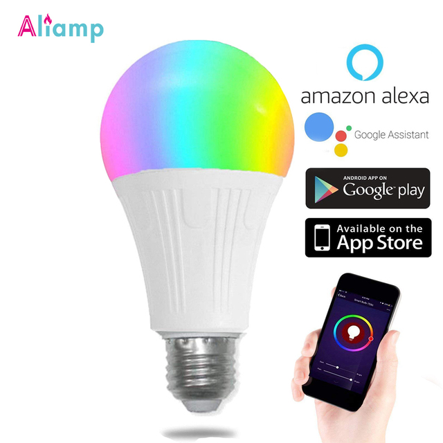 WiFi החכם Led אור הנורה E26/E27 מנורת A19 7W חם 3000K קר לבן 6000K RGB שלט רחוק Tuya Alexa גוגל עוזר הבית