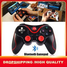 T3 bluetooth gamepad joystick para android sem fio jogos s600 stb s3vr controlador de jogo para pc android smartphone com suporte
