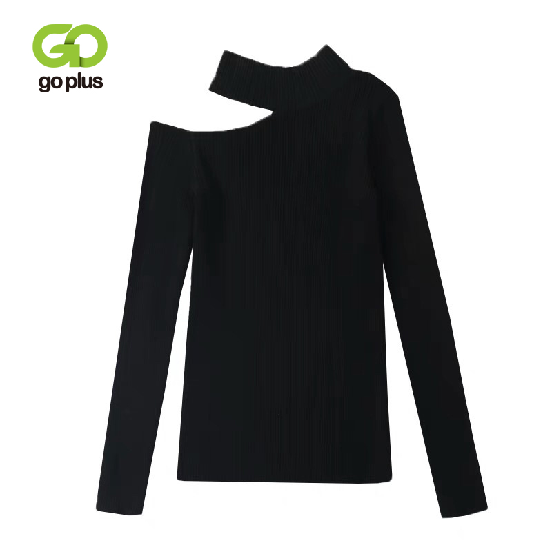 GOPLUS Women's Sweaters Turtlenck Jumper Off Shoulder Winter Clothes Women Knitwear Black Pullover Pull Femme Nouveaute 2019