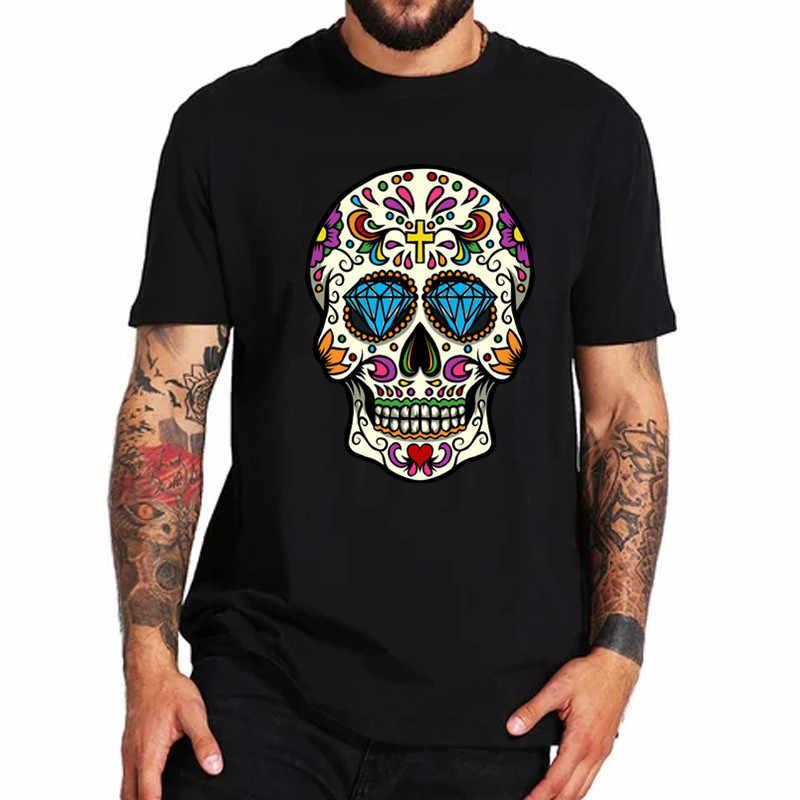 2019 แฟชั่นฤดูร้อน Tshirt Skull T เสื้อเม็กซิกันน้ำตาลกะโหลกศีรษะชายเสื้อยืดคลาสสิกหล่อเหลา O-Neck สั้นแขนเสื้อ