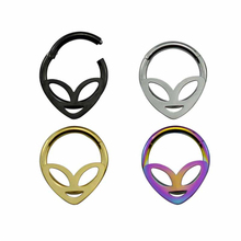 316L Surgical Steel Alien Bendable Hoop Rings For Ear Cartilage Daith Helix Earring Clicker Nose Labret Ring Piercing Jewelry 1pc copper nose ring nose septum hoop rings piercing clicker daith ear helix cartilage nariz earring for women body jewelry 16g