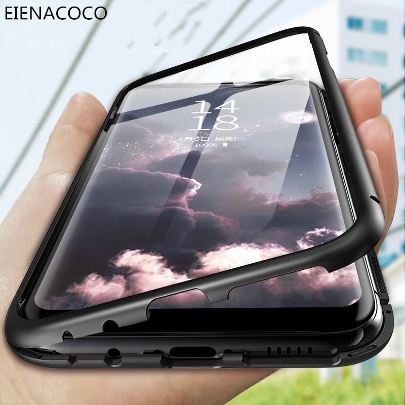 Magnetische Adsorptie Metal Case Voor Samsung Galaxy S10 S9 S8 S7 Rand Note 9 8 10 Plus Magneet Cover Voor samsung A10 A50 A70 Gevallen