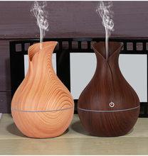 4 # olejku aromaterapeutycznego dyfuzor rozpylacz zapachów olejek dyfuzor Led drewna ziarna Aroma nawilżacz z funkcją aromaterapii 130ml