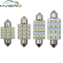 цена на White 31mm 36mm 39mm 41mm DC 12V C5W C10W 1210 3528 12Smd Festoon Dome Reading LED Auto Panel Reading License Lamp Wedge bulbs