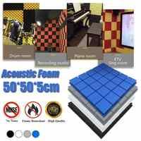 4 шт. акустические пенопласты звукоизоляционные пенопластовые панели Абсорбирующая губка для звукозаписывающих студий барабанная комната...