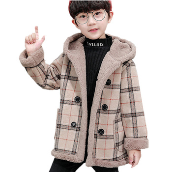 baby boy winter jackets 2018 kids hooded cotton outerwear parka coat clothes for teen boys 5 6 7 8 9 10 11 12 13 14 years old Children Warm Wool Jacket Coat with Hood For Boys High Quality Kids Boy Thick Winter Clothes Outerwear For Age 2-13 Years Old